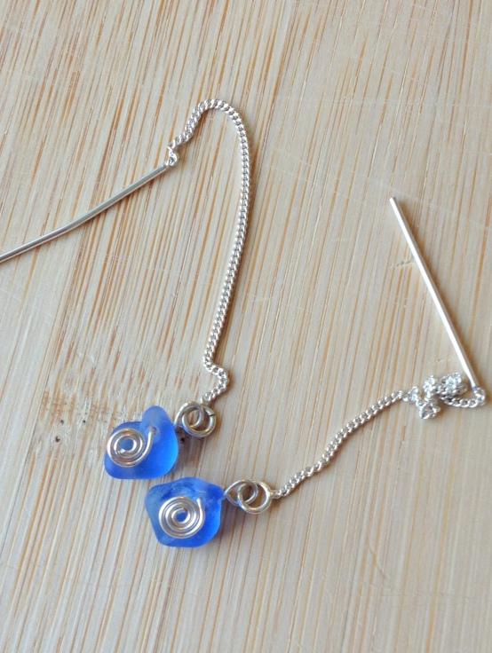 Cornflower Blue Sterling Earrings